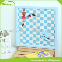 Custom blue squares thick cork board