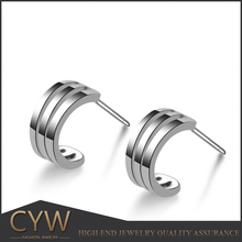 CYW Unique diamond Pave setting full zircon huggie earrings 925 sterling silver Stud earrings india wholesale clothing