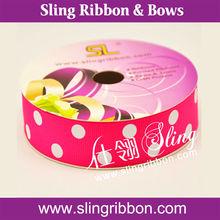 Party Dot Grosgrain Ribbon For Retail
