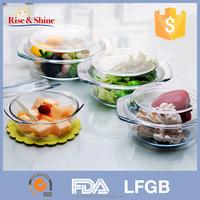 High Quality glass microwave baking pan ovenware/Heat resistant Borosilicate glass shallow baking pan