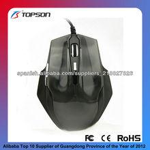 Ratón óptico de la computadora ratón con cable de ordenador