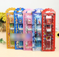 TF-04150806007 2015 hot sell student 7 in 1 pencil stationery set frozen /hello/cars/ben 10 stationery set