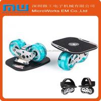 2015 new products 2 wheel drift skateboard, glow in dark skate , luminous skate board