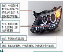 New and hot auto accessories 2011 year led Headlight with LED DRL made in China