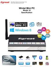 2015 Newest Desigh Mini PC i6 with Intel Atom Bay-trail Z3735F Quad Core 1.86Ghz CPU 2GB RAM 16GB SSD Win 8 mini computer