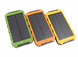 20000mAh Portable Waterproof Solar Power Bank Dual USB Solar Panel Battery Charger for All Mobile Phone