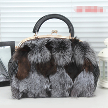 Fashion Style/Fox Fur Bag/Wholesale And Retail/Fast Shipping/Small Bag