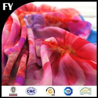 Factory custom high quality digital printing french silk chiffon fabric