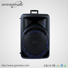 Active Single 15 Inch Hifi Speakers Audio Powerful Outdoor Speaker Bluetooth Wireless Loudspeaker With USB/SD/FM