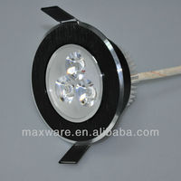 Drawbench Black Cover 3W LED Downlight