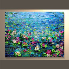 Home Decor Flower Acrylic Painting On Canvas In Discount Price
