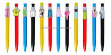 Novelty custom clip pen,cute plastic pen with custom clip,cartoon pen clip