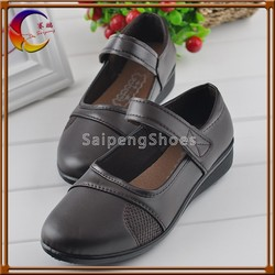 Buckle strap brown color Classic designs women new model flat shoes for women 2014