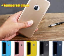 Christmas gift 360 degree full cover protective hard case with tempered glass screen for iphone 6s, slim hard case for iphone 6s