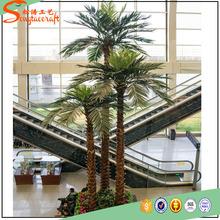 Exterior grande fake plastic palmera plantas y artificial palmera árbol decorativo