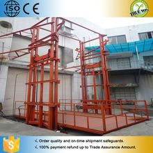 Cheap price wall mounted rail lift / Leading goods guide lift elevator