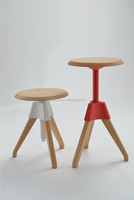 hot simple design small round top adjustable wooden dining stool