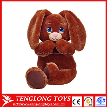 2015 OEM design Cute Long Ear Hug Plush rabbit toy, floppy ears stuffed rabbit