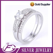 Noble style aaa cz stone 925 sterling silver egyptian wedding rings