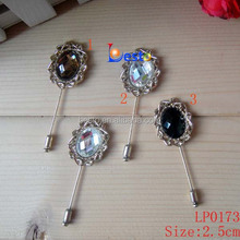 LP 0173 New Guangzhou Vintage royal Pearl center metal lapel pin for suit