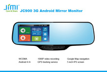 """Jimi gps tracking systems 4.3"""" Built in Bluetooth Dual Video Inputs Auto Adjust Brightness Car Rearview car dvd stereo"""