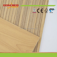 MDF Factory Sale Laminated MDF Wave Pattern Wall Panels