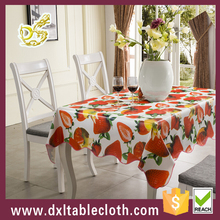 Fruit Style Vinyl Tablecloth Pvc Printed Tablecloth