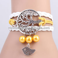 MYLOVE 2014 lucky bird braided bracelet for women MLBZ001
