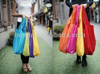 2014 simple and colorfull polyester folding shopping bag