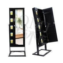 Large Black Free Standing Floor Wood Dresser with Mirror