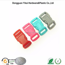 """Colorful side release plastic buckle,1/2""""(13.5mm) curved plastic quick release clasp"""