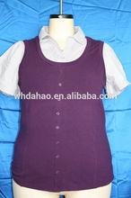 camisa de manga corta cuello más tamaño para blusa de media de edad de las mujeres