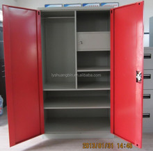 High quality and full height red color 4 door metal locker with interior drawer and chest/chinese red wedding small steel war