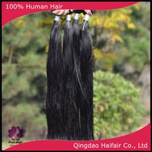 Grade 6A black straight hair weft, brazilian virgin human hair weaves extension