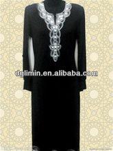 fuente de la fábrica las mujeres muslimah vestido caftán elegante a80421