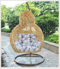 gold color net swing chair hanging kids peanut swing chair