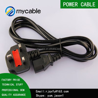 UK Standard Pro Electric AC Power cable Plug to IEC Power Cord