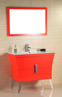 CA006 Free Standing Bright Orange Color Bathroom Vanity