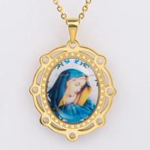 Stainless steel retro style jewelry mandala bracelet pendant