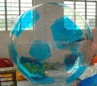 Colorful inflatable water balls, football bubble for adults