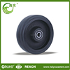 low rolling resistance rubber wheel with cast iron center
