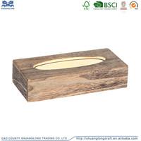 China Supplier FSC&CARB Custom Design Wooden Tissue Box