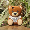 This Is Not A Teddy Bear Toy Silicone Case for iPhone 4 4S 5 5S 5C 6, 6 P lus,For Samung Galaxy S5 S6 Note 3 4