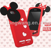 Minnie Mouse Hide and Seek 3D Silicone Case for iPhone and samsung