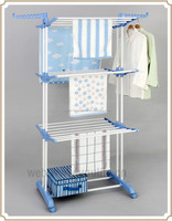 Three layer stainless steel clothes airer