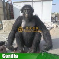 Huge size human animatronic animal life size gorilla for sale