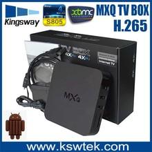 سخونة 2015 mxq s805 amlogic التلفزيون مربع جوجل xbmc 4k الجنس الحيوان أشرطة الفيديو القرار