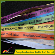 2015 NEWEST eye-catching Custom Satin golden foil printing ribbon wristband for wedding gift