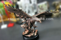 DS85004 plated resin eagle figurine award trophy souvenir