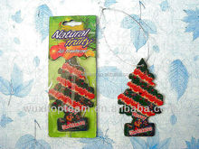christmas trees style hanging cotton paper car air freshener